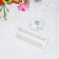 Присоска-держатель для зубной пасты белый 401-979