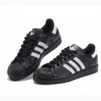 Кроссовки Adidas SuperStar Black White женские