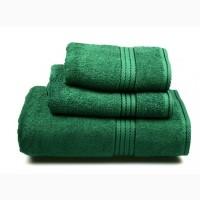 """Полотенце махровое """" (т.зелёное), 70х140см"""