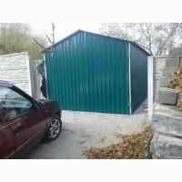 Гараж из профнастила, Металлопрофиль для гаража, Крыша гаража из профлиста