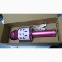 Караоке Wester WS-858 Беспроводной стерео микрофон с динамиком и Bluetooth, Розовый
