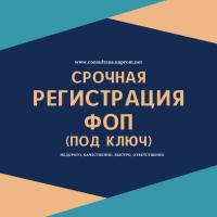 Регистрация ФОП в Днепре (по Украине) за 1 день