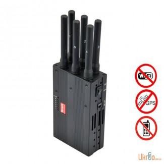 Глушилка GSM / CDMA / DCS / PCS / 3G / 4G / Wi-Fi / Bluetooth