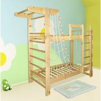 Детская Двухъярусная кровать-спортивный уголок Пират