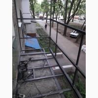 Расширение балкона с выносом по плите до 30 см, Харьковская обл
