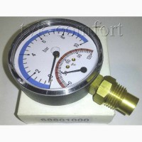Термоманометр вертикальный 1/2-120 C-10bar Watts арт.68801000