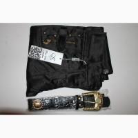 004 Новые черные штаны с поясом. Размеры S-M (42-44)