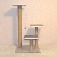 Игровой комплекс когтеточка с тремя столбами Макси