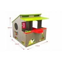 Пластиковый игровой домик для детей Мастер шеф и Смоби с летней кухней