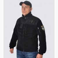 Черная флисовая полицейская кофта
