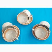 Чашки и блюдца для чая фаянсовый набор на 6 персон