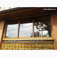 Остекление беседки окнами из алюминия. Раздвижные и поворотные окна