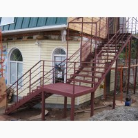 Производство и установка лестниц на металлическом каркасе по индивидуальному проекту