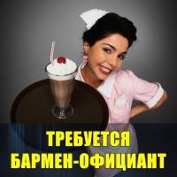 В караоке-бар требуется бармен-официант девушка