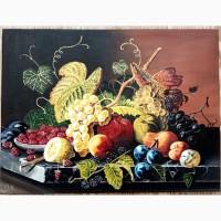 Картина Натюрморт с фруктами, 30х40 см, холст, масло