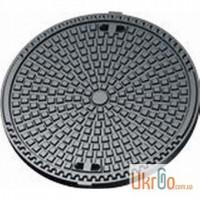Люк чугунный с гидротехническим бетоном, средний, тип С (В125, 15т.) Кasi, Чехия