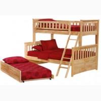 Двухъярусная кровать из натурального дерева - Щит