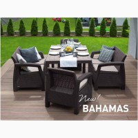 Садовая мебель Bahamas Fiesta Set искусственный ротанг Allibert, Keter