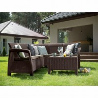 Садовая мебель Bahamas Relax Set искусственный ротанг Allibert, Keter