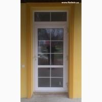 Алюминиевые двери с покраской. Тёплые двери из алюминия с замком