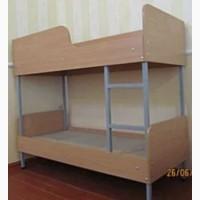Кровать из ДСП на металлическом каркасе 2-яр. 1400*600