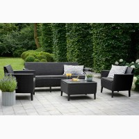 Садовая мебель Salemo 3 Seater Set искусственный ротанг Allibert, Keter