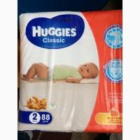 Продам детские подгузники Huggies classic 2, 3, 4