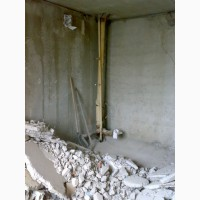 Демонтаж сантехкабин(блоккомнат).Демонтаж перегородок, стен, бетона Харьков