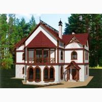 Готовый проект дом в средневековом стиле коттедж; купить готовый проект загородный особняк