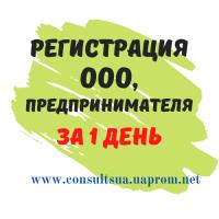 Регистрация ООО, ЧП, ФЛП за 1 день, НДС, Единый налог