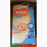 Продам детские подгузники Huggies ultra comfort 3 (для мальчиков)