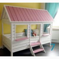 Детская кроватка домик из сосны - Украинский производитель