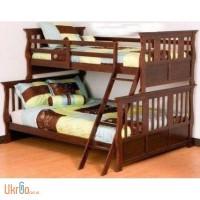 Двухъярусная кровать из натурального дерева - Джонатан