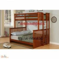 Двухъярусная кровать из натурального дерева - магелан