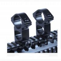 Новые кольца-крепления для оптики дюймовые (25.4мм) на вивер-пикатинни