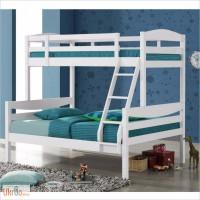 Двухъярусная кровать из натурального дерева - Барс