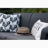 Садовая мебель Corfu Love Seat искусственный ротанг Allibert, Keter