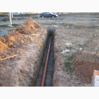 Копка ям, траншей, замена водопровода
