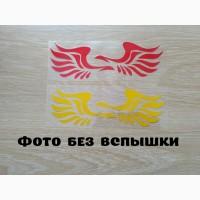 Наклейки Крылья на авто Желтый и Красный светоотражающие