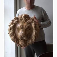 Лев голова из клеенного ореха. (Злой лев)