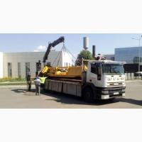 Кран-манипулятор грузовой доставка грузов стройматериалов, грейферный ковш