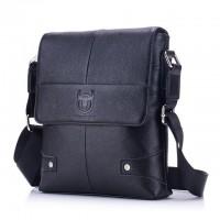Мужская сумка из натуральной кожи через плечо Bullcaptain Китай черный 401-968