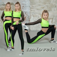 Спортивная одежда для девочки. Для танцев, спорта. Лосины, топ