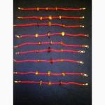 Браслет, красная нить оберег с натуральным Калининградским янтарем