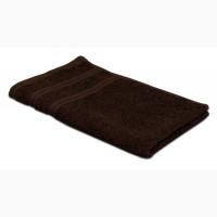 "Полотенце махровое ""Индия"", 30х30см, 400гр/м2 (тёмно-коричневое)"